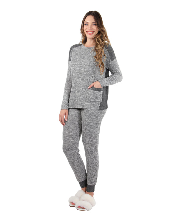 Colorblock Lounge Set | Clothing By MeMoi®  | CPJ05596 | Medium Gray