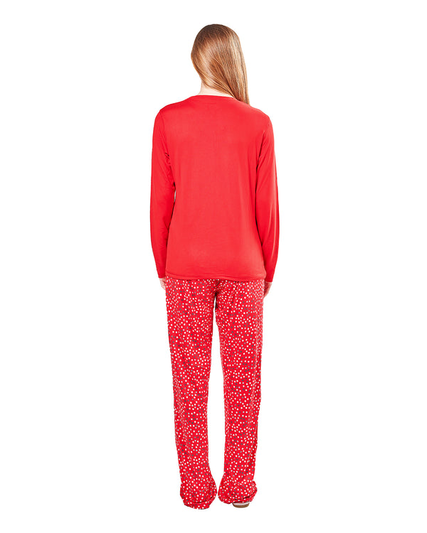 Long Story 2-Piece Pajama Set | Christmas Pajamas for Women | Pajamas by MeMoi | Red CPJ05691 -2