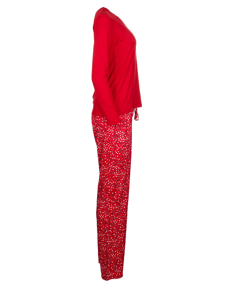 Long Story 2-Piece Pajama Set | Christmas Pajamas for Women | Pajamas by MeMoi | Red CPJ05691 -5