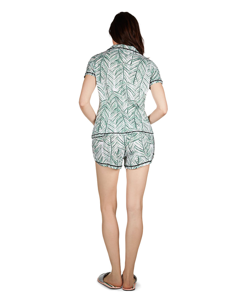Palm Play Notch Collar Pajama Set
