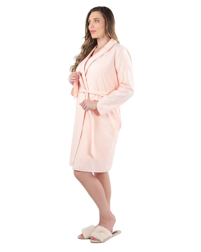 Lace Applique Robe | MeMoi Womens Sleepwear Collection | Womens Robes | CreolePink CRS04480 - 3