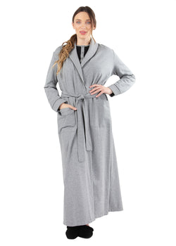Quilted Robe | MeMoi womens sleepwear collection | robes for Women | womens clothing |  Gray Heather CCRX04454