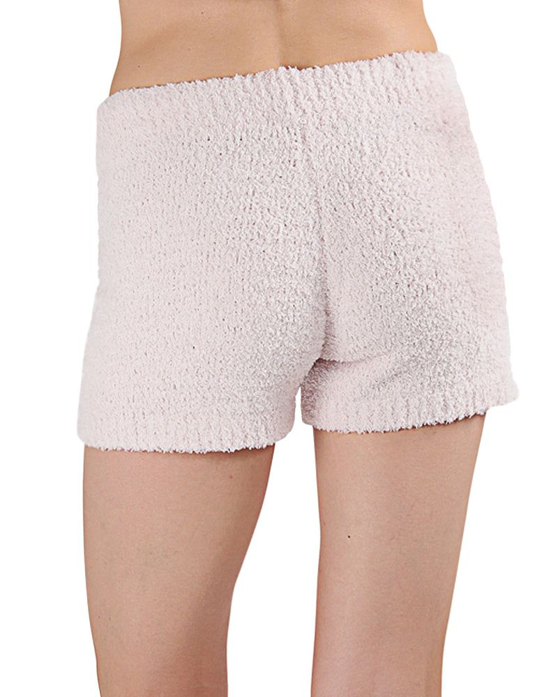 LoungeLife Chenille Drawstring Shorts | Women's loungewear by MeMoi | Chenille Shorts CSH05717 -2