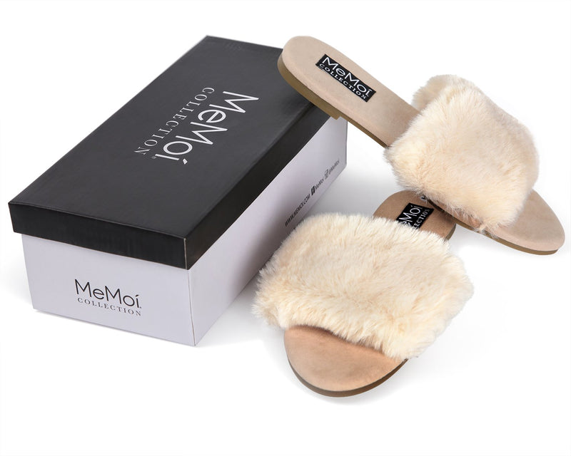 MeMoi Shannon Mule Slipper | Women's Hard Sole Luxury Slippers | Tan CSL00159