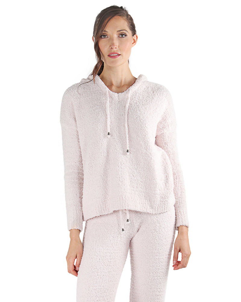 LoungeLife Chenille Drawstring Hoodie | Women's loungewear by MeMoi | Fashion Hoodie CTL05719 -2