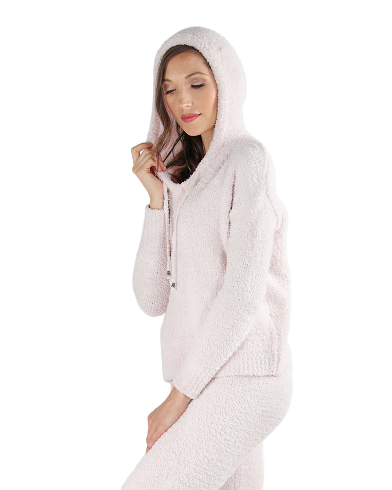 LoungeLife Chenille Drawstring Hoodie | Women's loungewear by MeMoi | Fashion Hoodie CTL05719