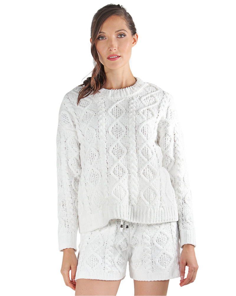 LoungeLife Marshmallow Pullover Top | Pullover Top By MeMoi®  | CTL05720 | White