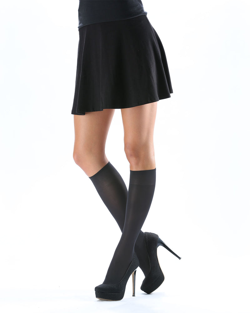 Levante Levante Dali Women's Soft Matte Opaque Knee High Stockings