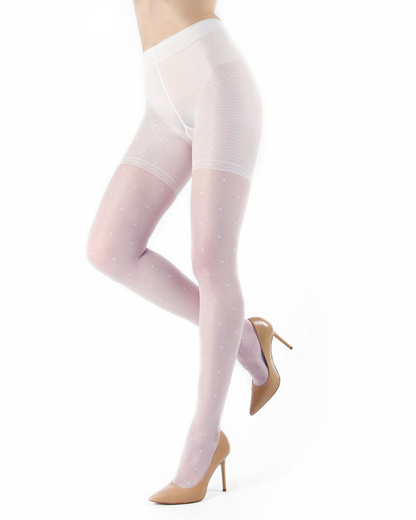 Elegance Sheer Allover Dot Pantyhose | MeMoi Womens Tights Collection | Womens Lingerie/Bridal |  Bianco ETS05267
