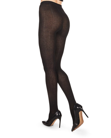 Bamboo Blend Rib Tights