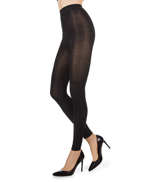 Bamboo Blend Flat Knit Footless Tights
