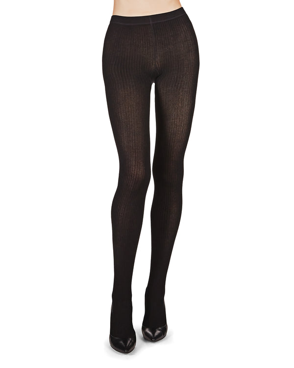 Organic Cotton Rib Tights