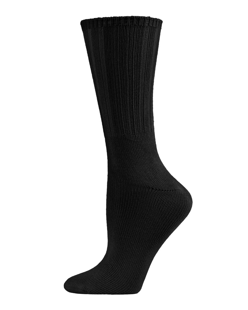 Organic Cotton Flat Knit Crew Socks