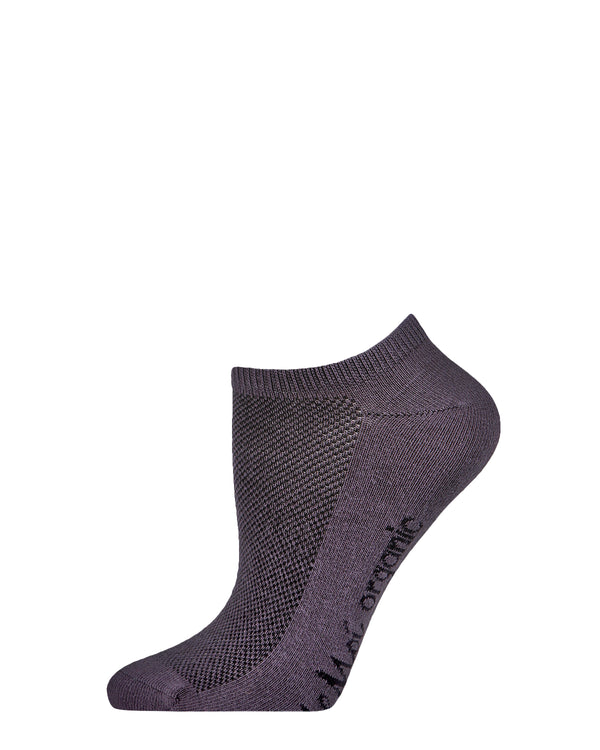 Organic Cotton Mesh-Top Liner Socks