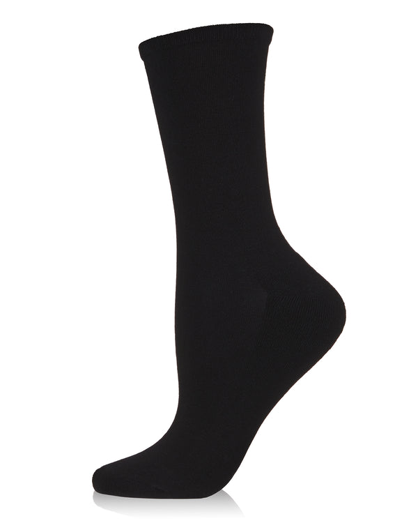Bamboo Blend Terry Sole Crew Socks