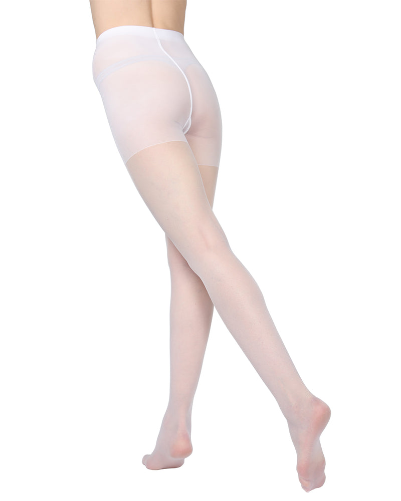 Essentials Control Top Satin Sheer Pantyhose | MeMoi Womens Tights Collection | Womens Lingerie/Bridal | womens clothes | Bianco ETS05269 -2