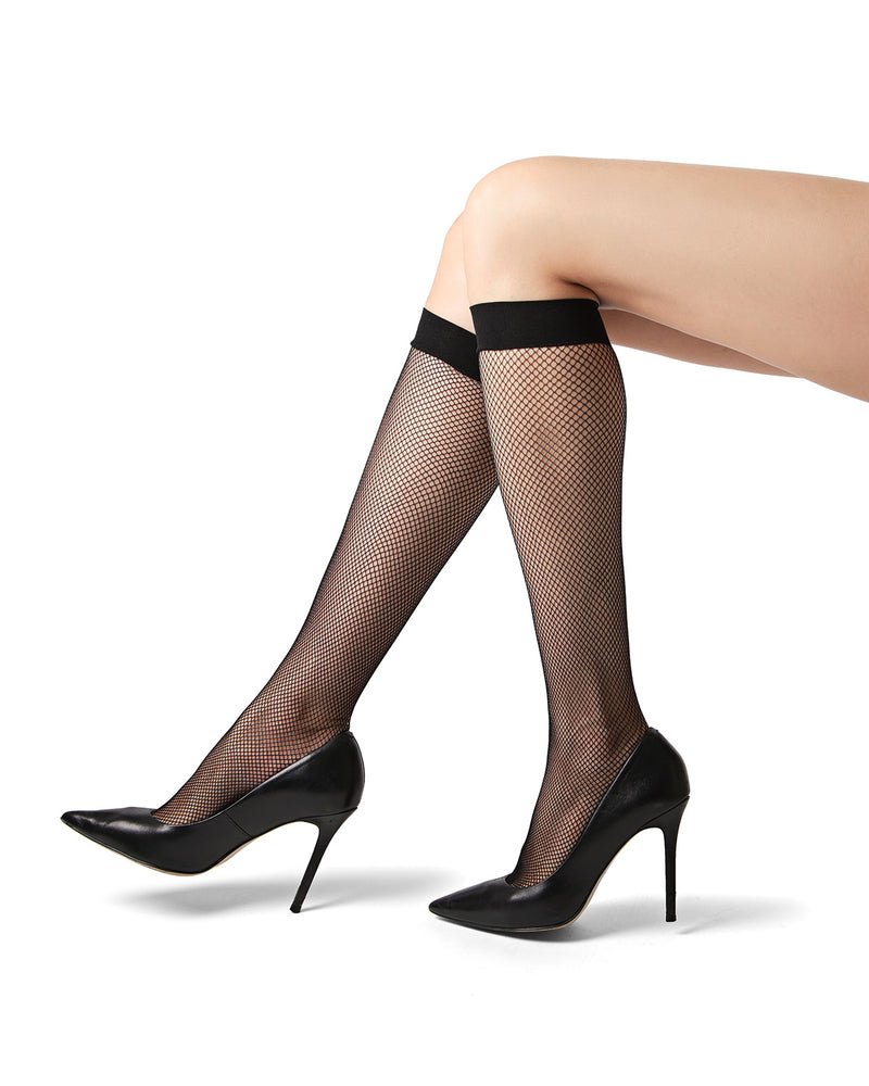 Fast Knee High Fishnet Stockings
