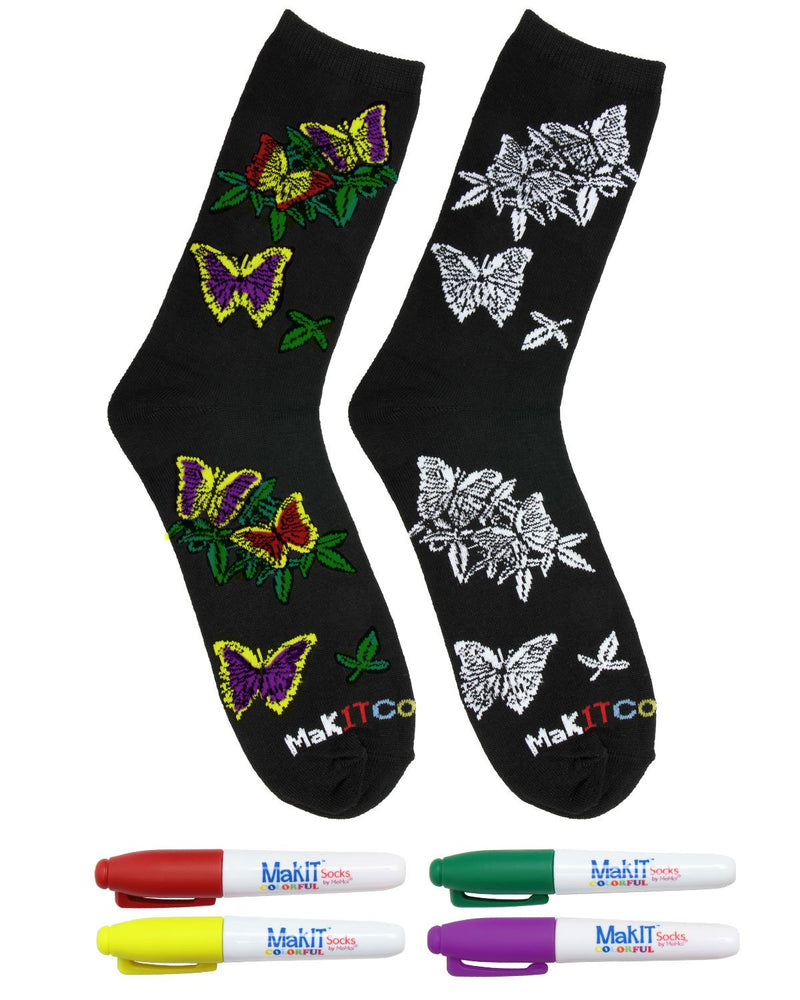 MeMoi MakIT Colorful Socks - Color Your Own