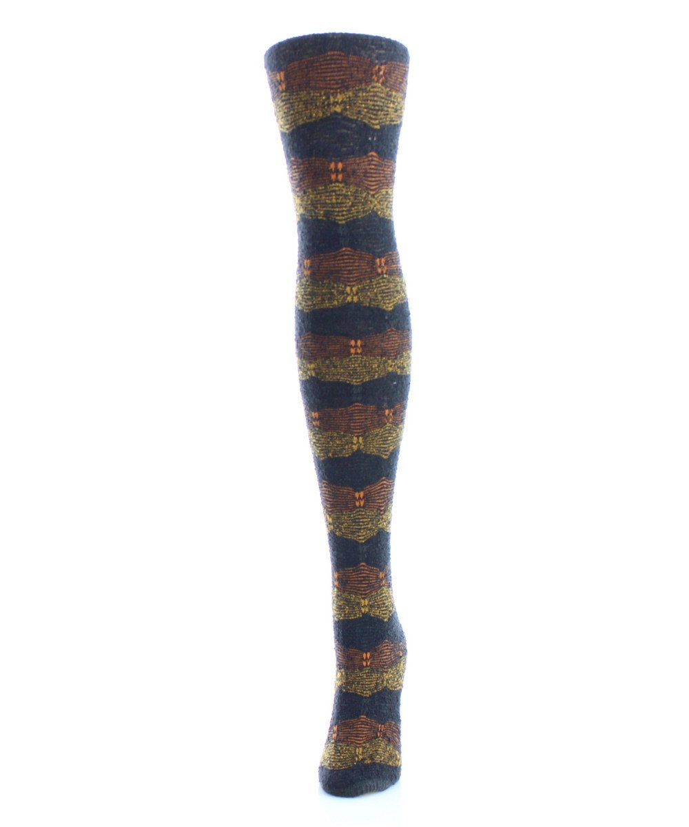 Zig Band Sweater Tights - MeMoi - 2