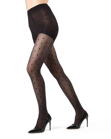 Flocked Dot Tights