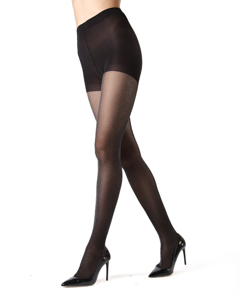 Flocked Seam Tights