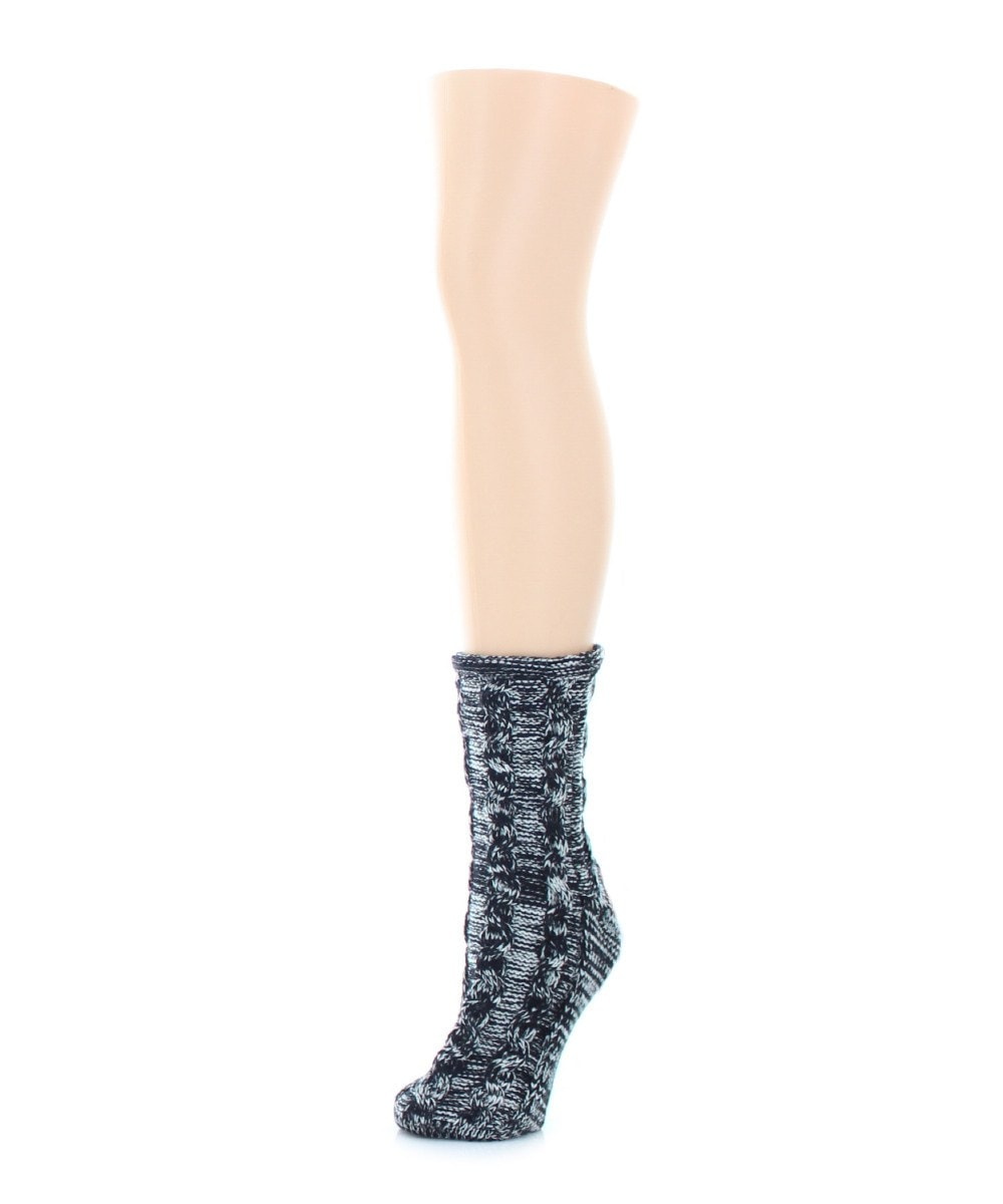 Rythmic Mesh Chunky Knit Boot Sock - MeMoi - 2