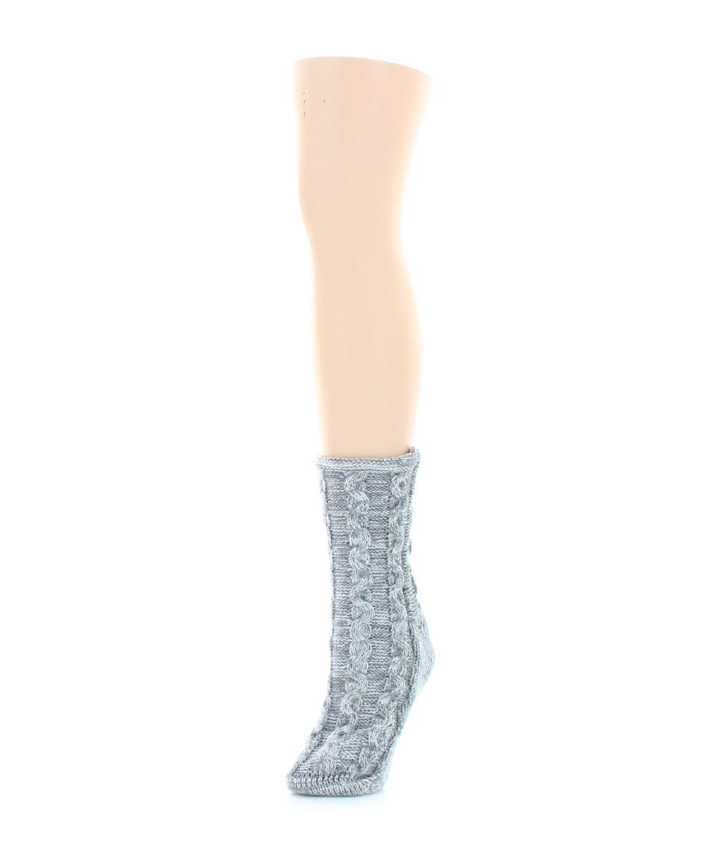 Rythmic Mesh Chunky Knit Boot Sock - MeMoi - 4