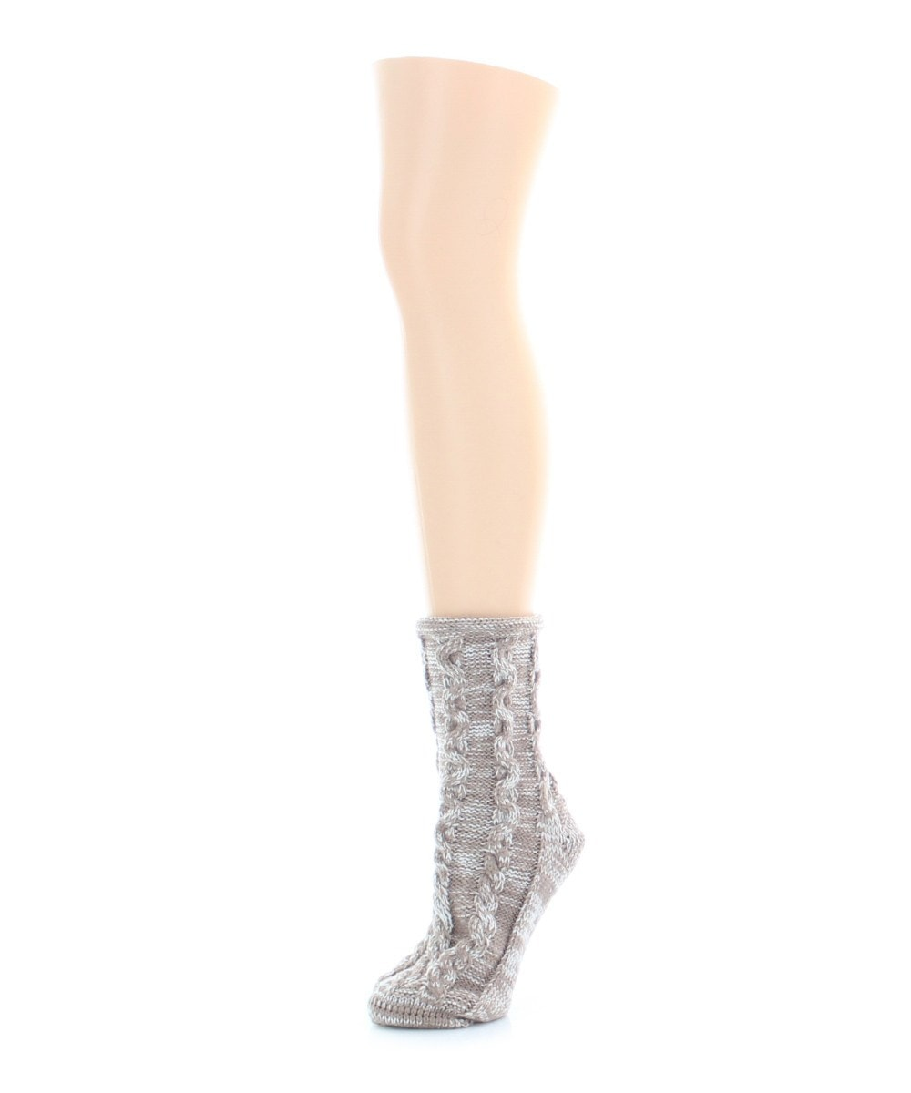 Rythmic Mesh Chunky Knit Boot Sock - MeMoi - 5