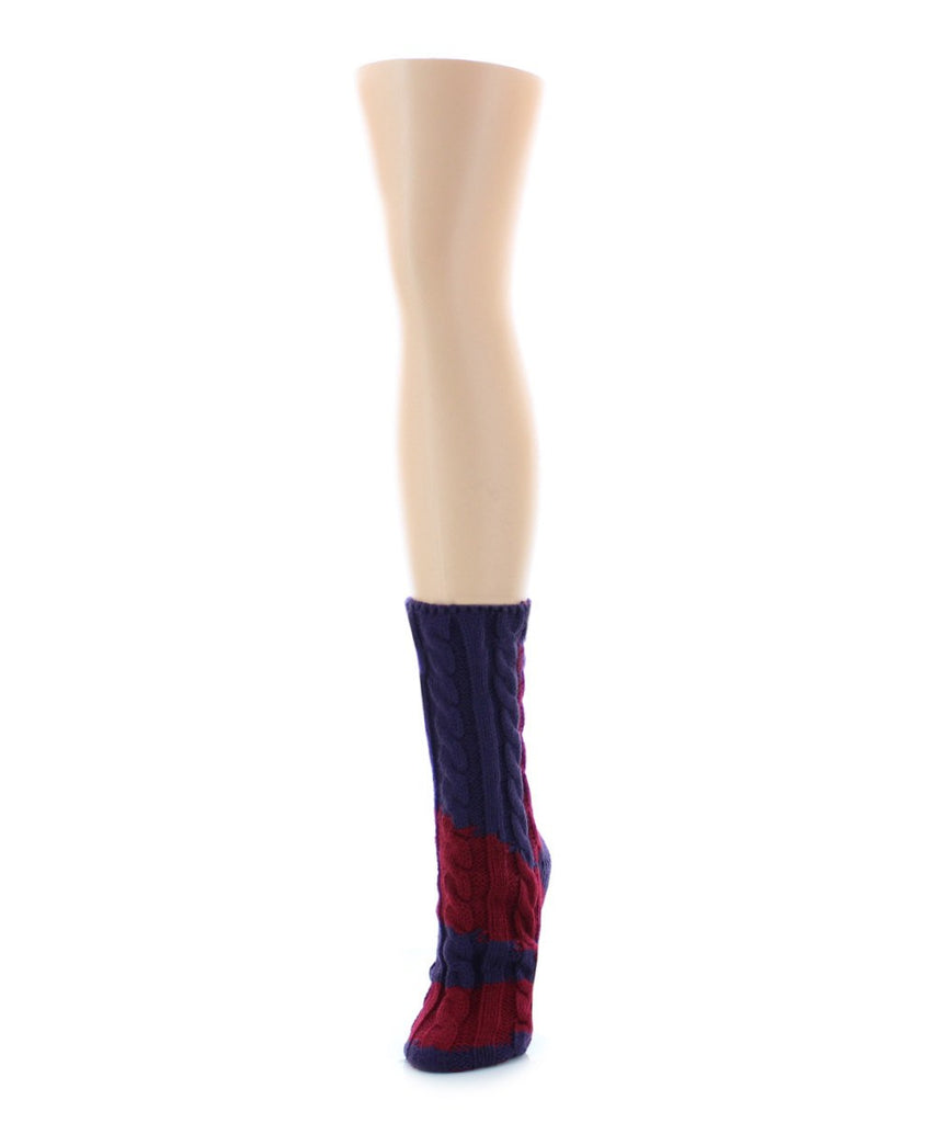 Color Swish Chunky Knit Boot Sock - MeMoi - 2