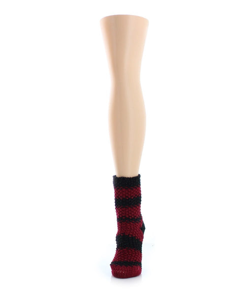 Mega Stripe Chunky Knit Boot Sock - MeMoi - 1