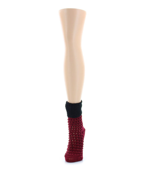 Box Weave Chunky Knit Boot Sock - MeMoi - 2