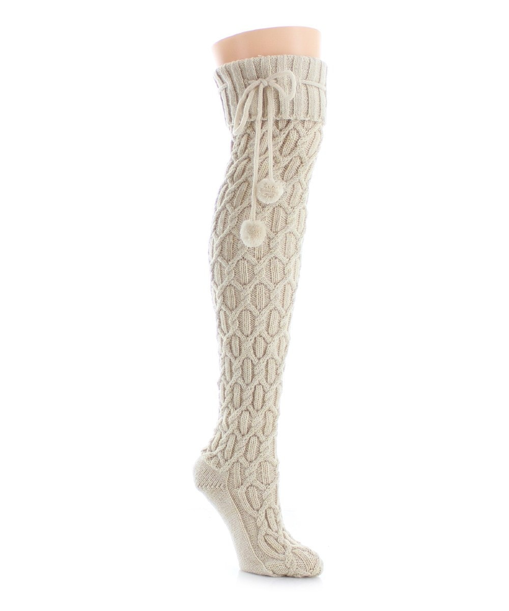 Interdiamond Chunky Knit Over The Knee - MeMoi - 3