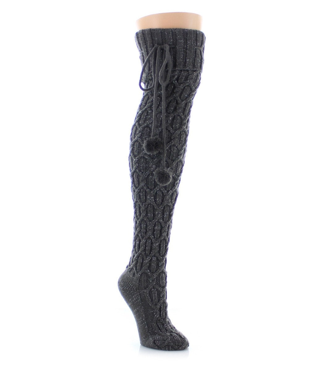 Interdiamond Chunky Knit Over The Knee - MeMoi - 2