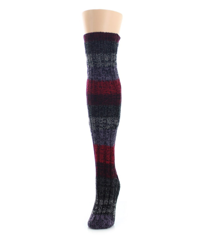 Band Tone Chunky Knit Over The Knee - MeMoi - 1