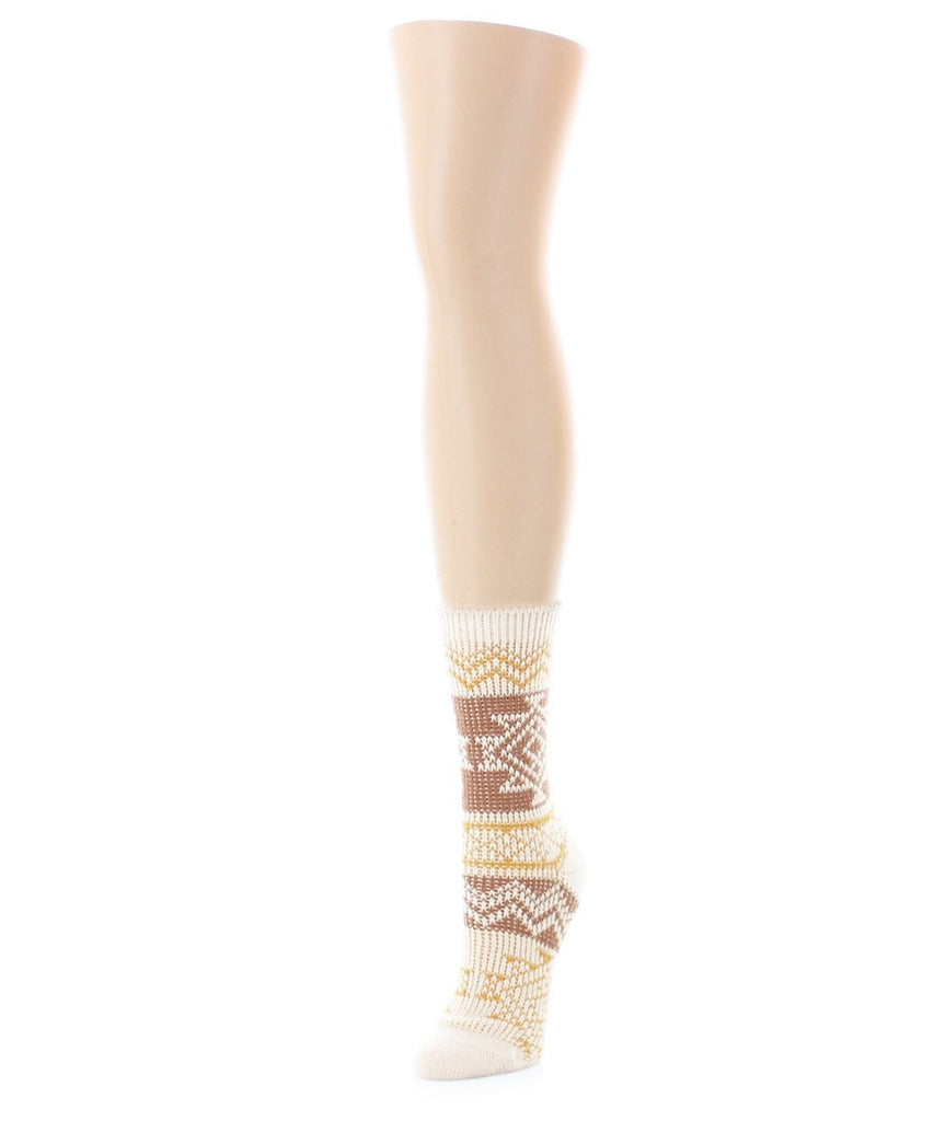 Diamond Line Fashion Soft-Fit Women's Crew Socks - MeMoi - 1