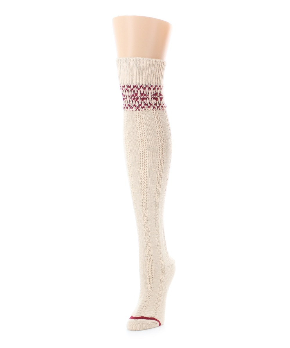 Fairisle Border Over The Knee - MeMoi - 3