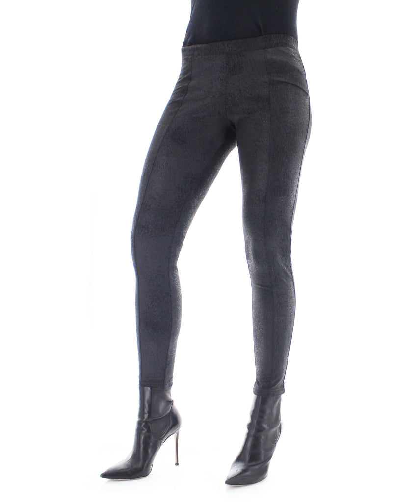 Crackle Fashion Black Leggings Pants