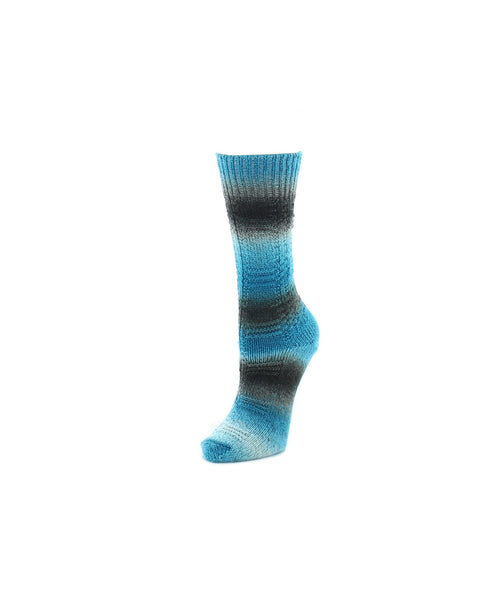Gradient Stripe Womens Crew Socks