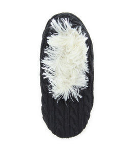 Legmogue Cable Knit Low Cut Sherpa Lined Slippers