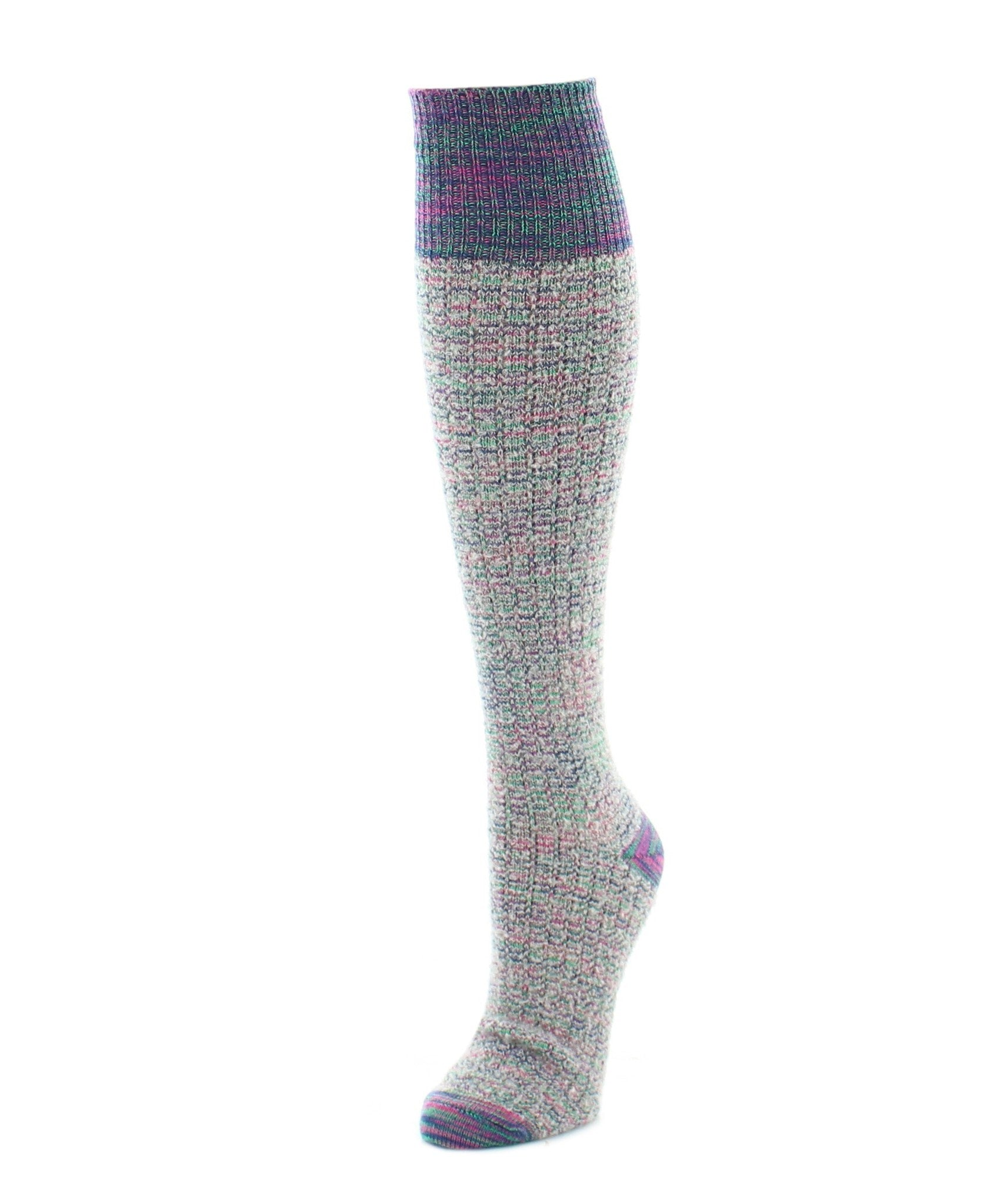 Fuzzy Mixed Threads Knee High Women's Socks