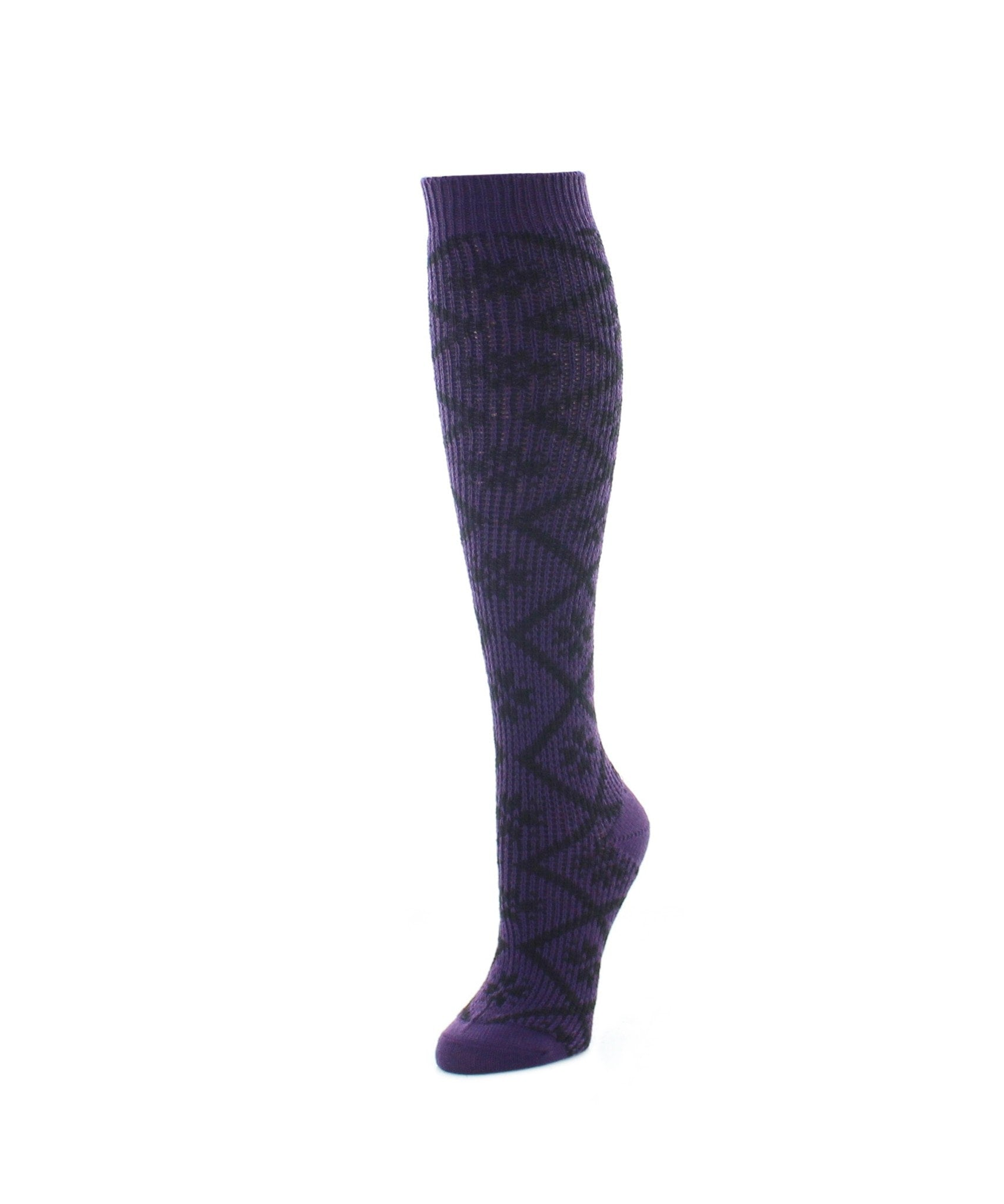 Open Crochet Knee High Women's Socks