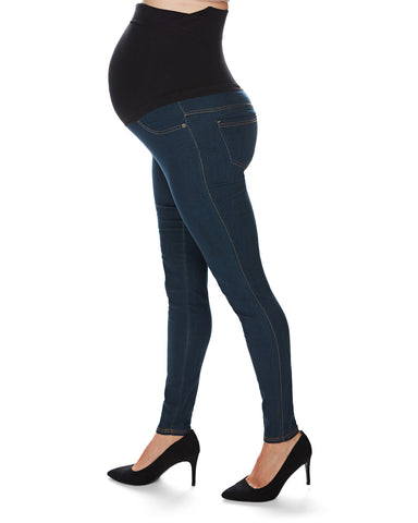Denim Bamboo Blend Maternity Leggings