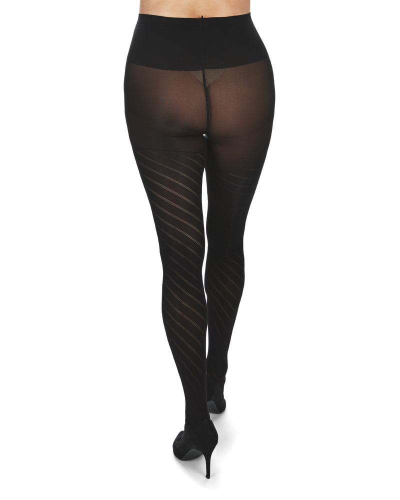 Spiral Patterned Microfiber Maternity Tights