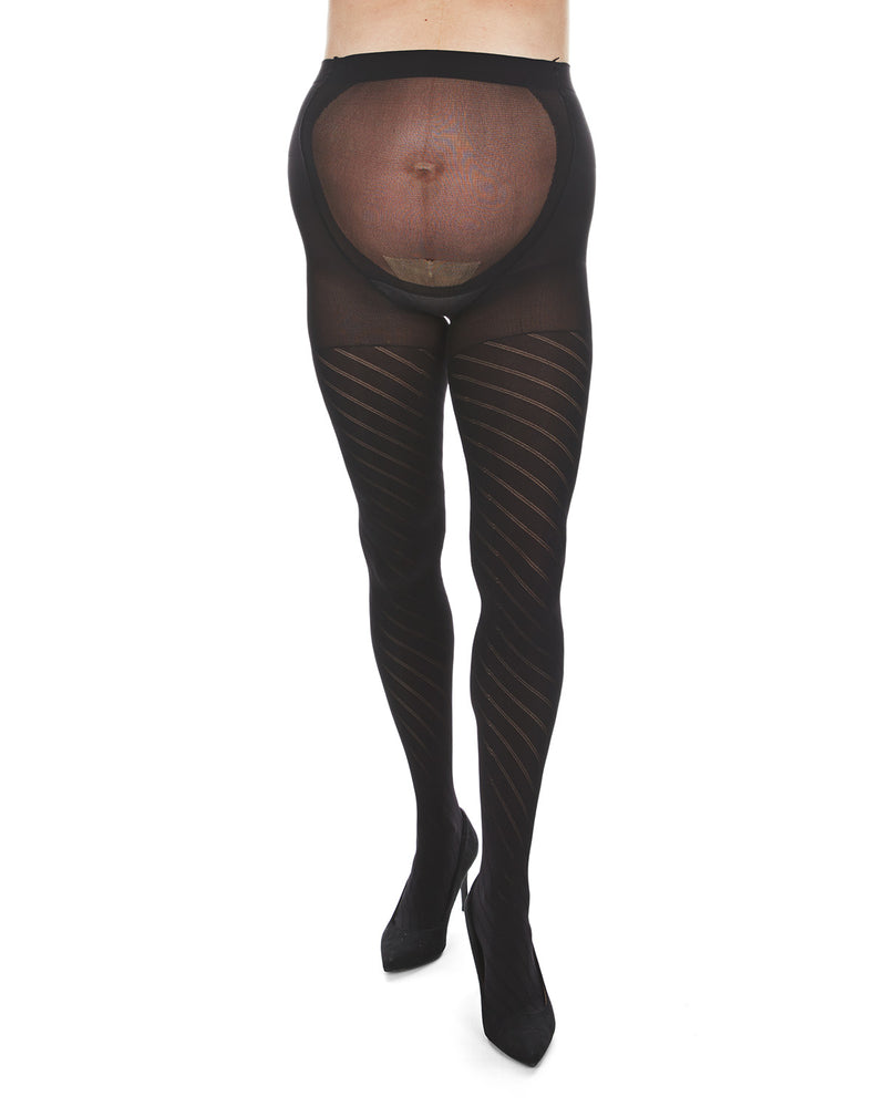 MeMoi Spiral Patterned Microfiber Maternity Tights