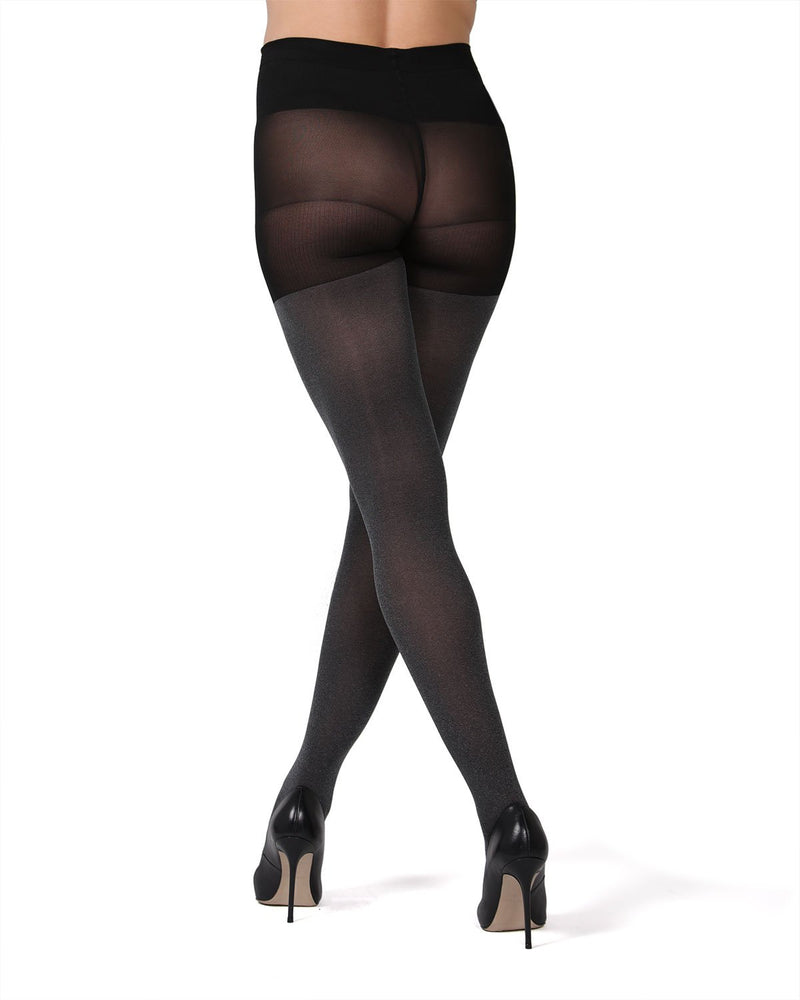 MeMoi Maternity Opaque Heather Tights  | Pregnancy Support Hose | Hosiery Collection (rear) | Gray- MA 421
