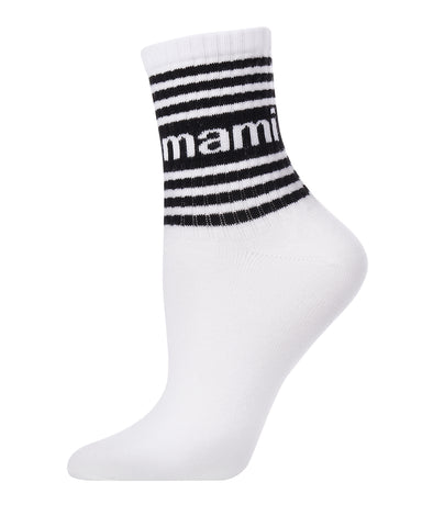 Sexy Mami Anklet Socks | Novelty Socks by MeMoi® | Women's Statement Socks | White MAF06277 -1