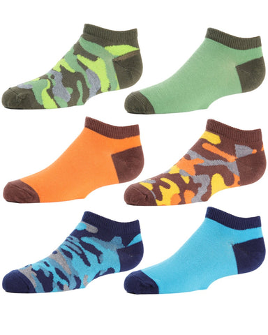 Camo Boys Low Cut Socks 6-Pack
