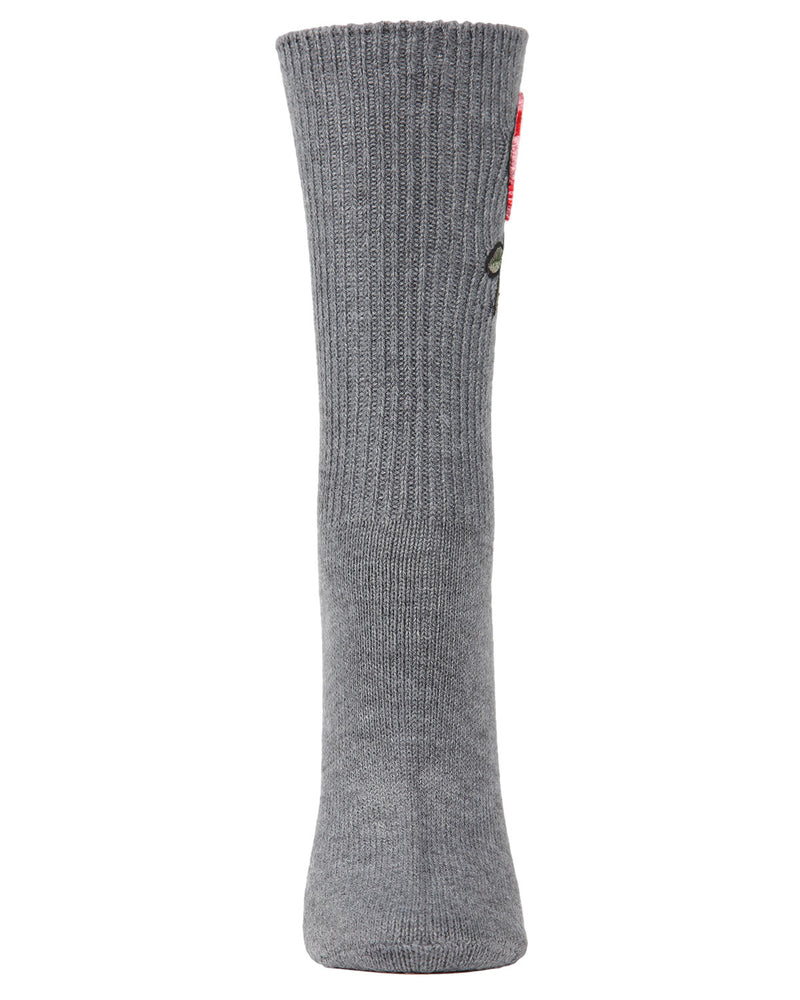 Rose Path Crew Socks | Socks By MeMoi®  | MCF05387 | Gray Heather 1