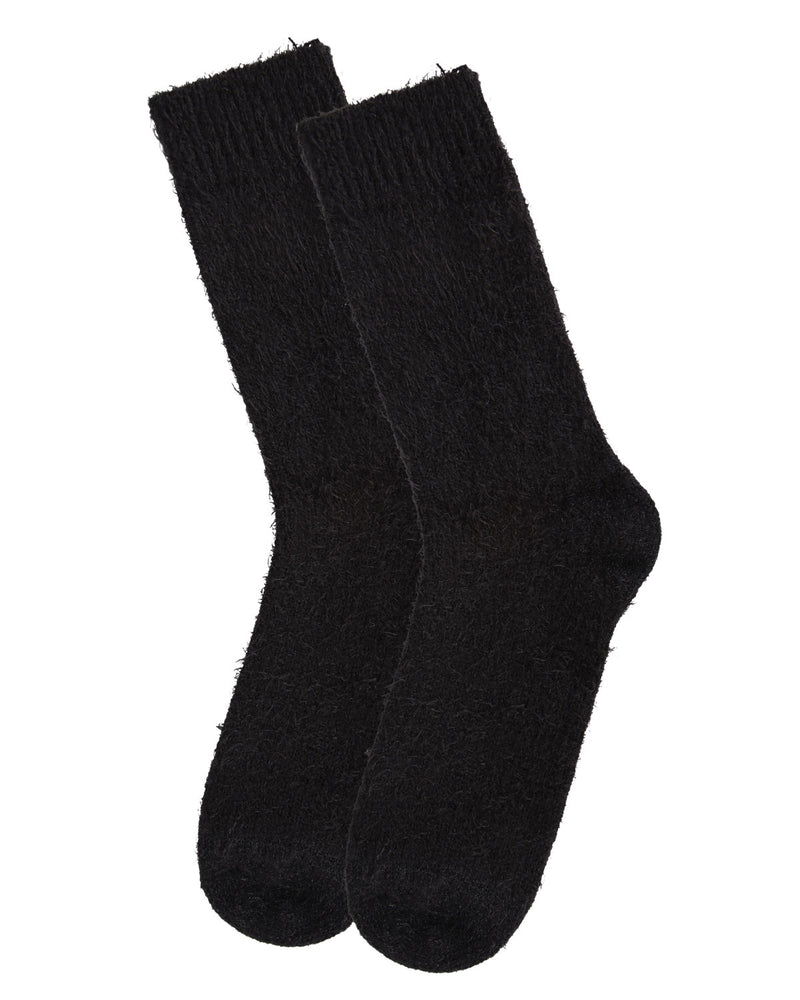 Warm Solid Plush Crew Socks