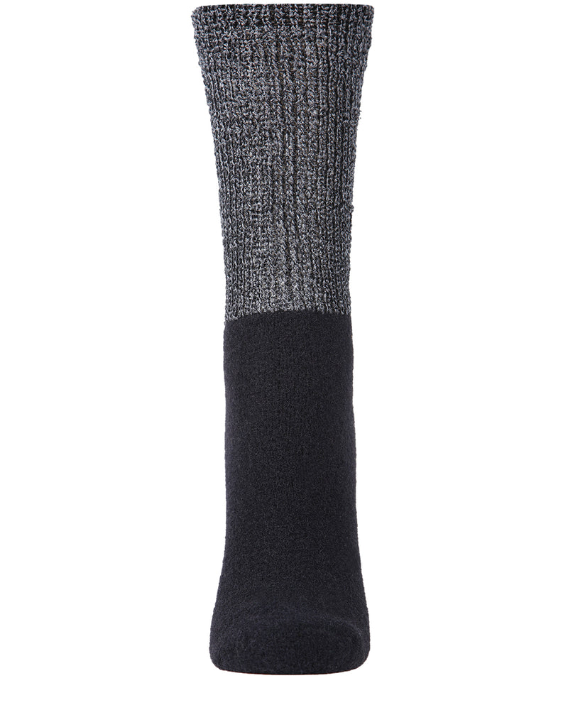 Lamb Net Mod Crew Socks | Socks By MeMoi®  | MCF05394 | Black 1